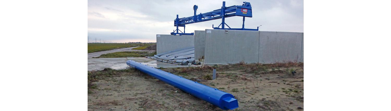 Kornet beton Verwisselbare rol voor sleufsilos