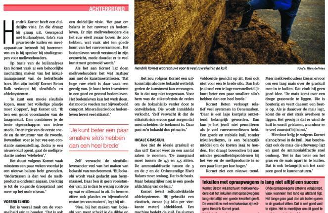 Stikstofcrisis houdt de melkveehouder dagelijks bezig - interview Nieuwe Oogst