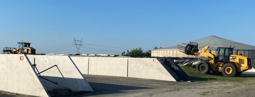 4 geasfalteerde sleufsilos | Kornet Beton Balk